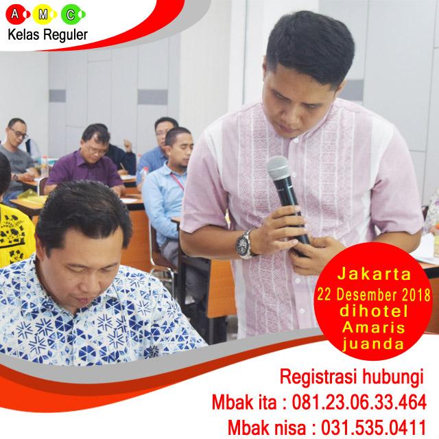 jadwal workshop amc reguler Jakarta 22 desember 2018