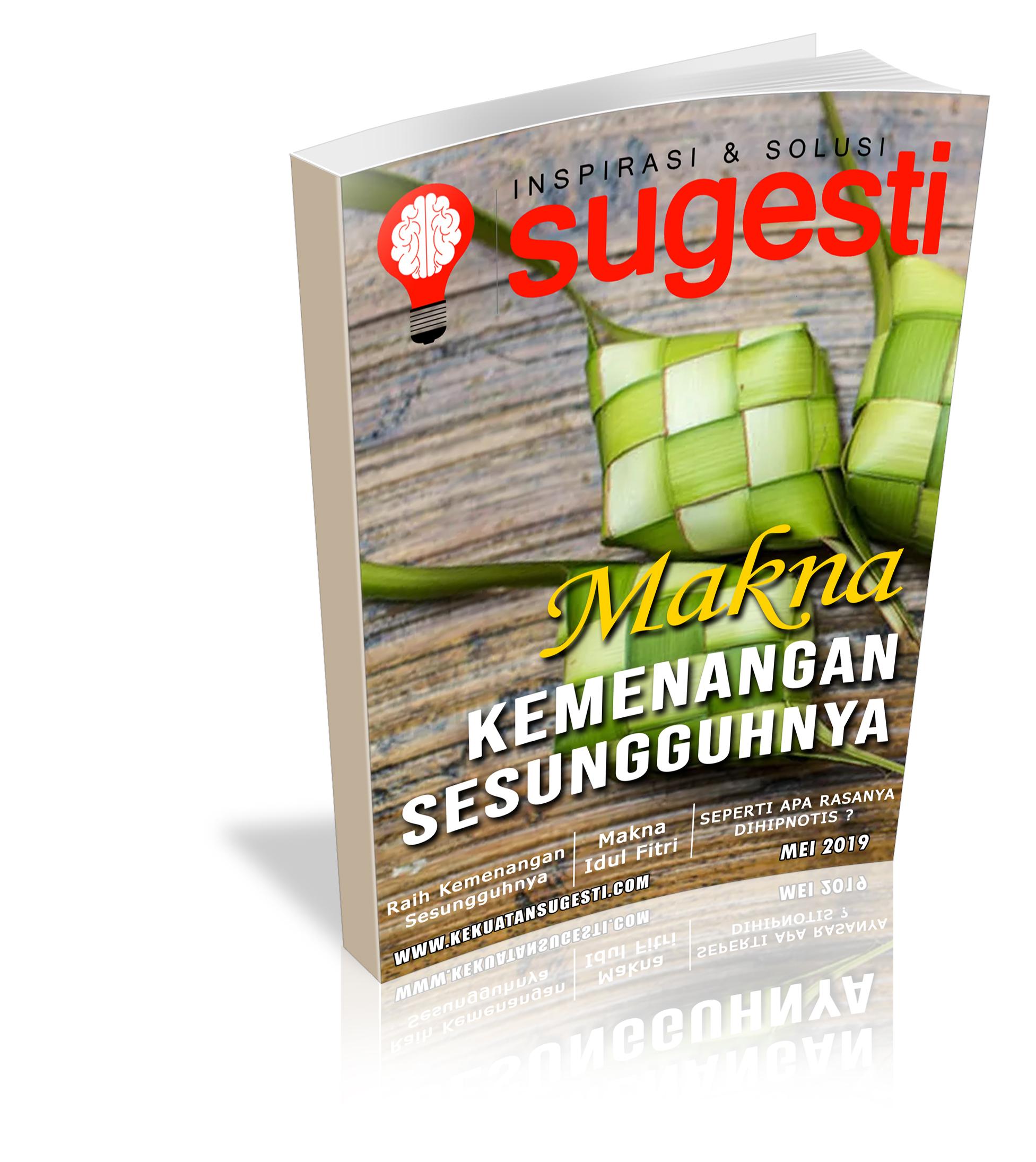 Majalah Sugesti Edisi Kelimapuluh Sembilan Bulan Mei 2019