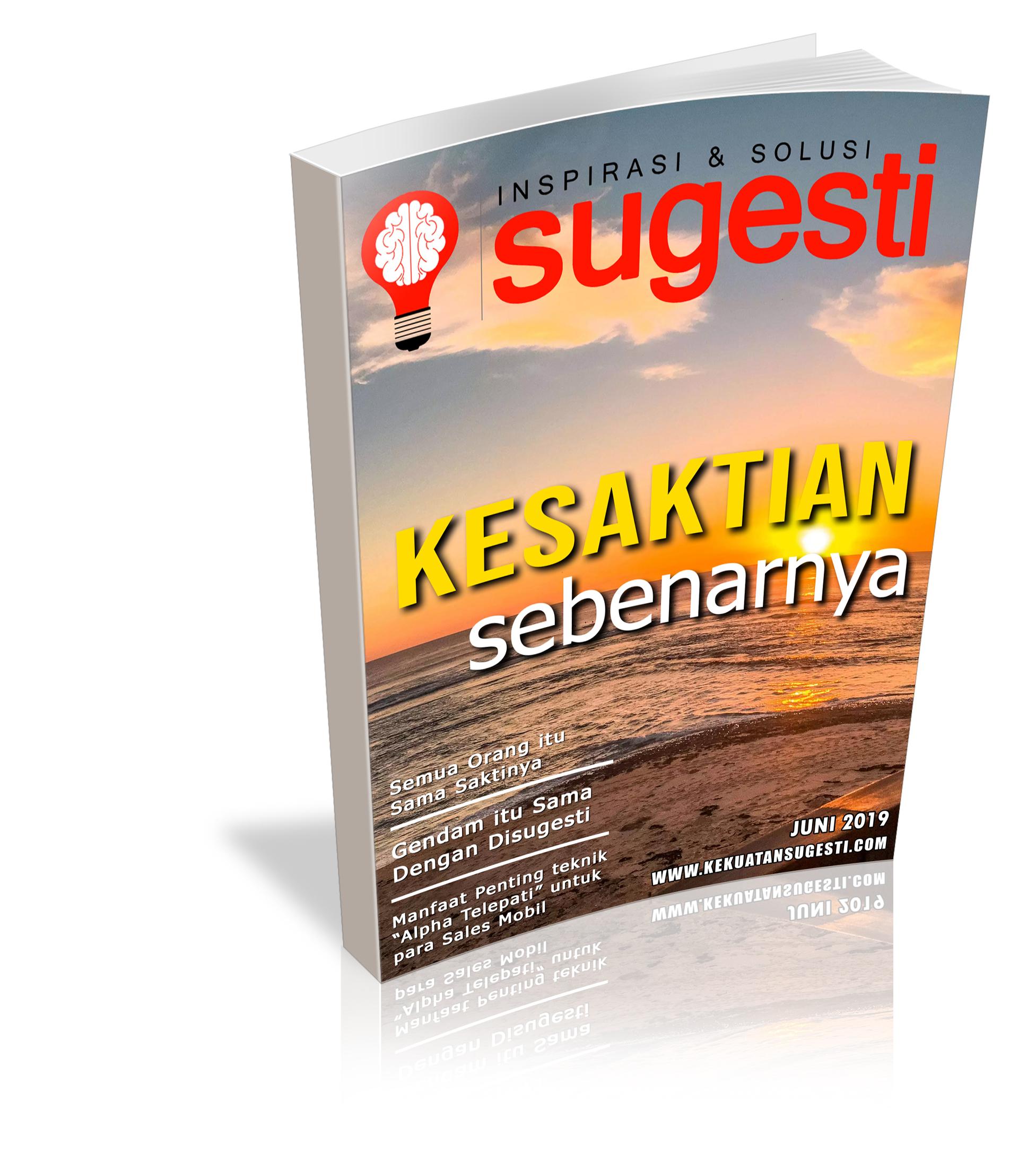Majalah Sugesti Edisi Keenam puluh bulan Juni 2019