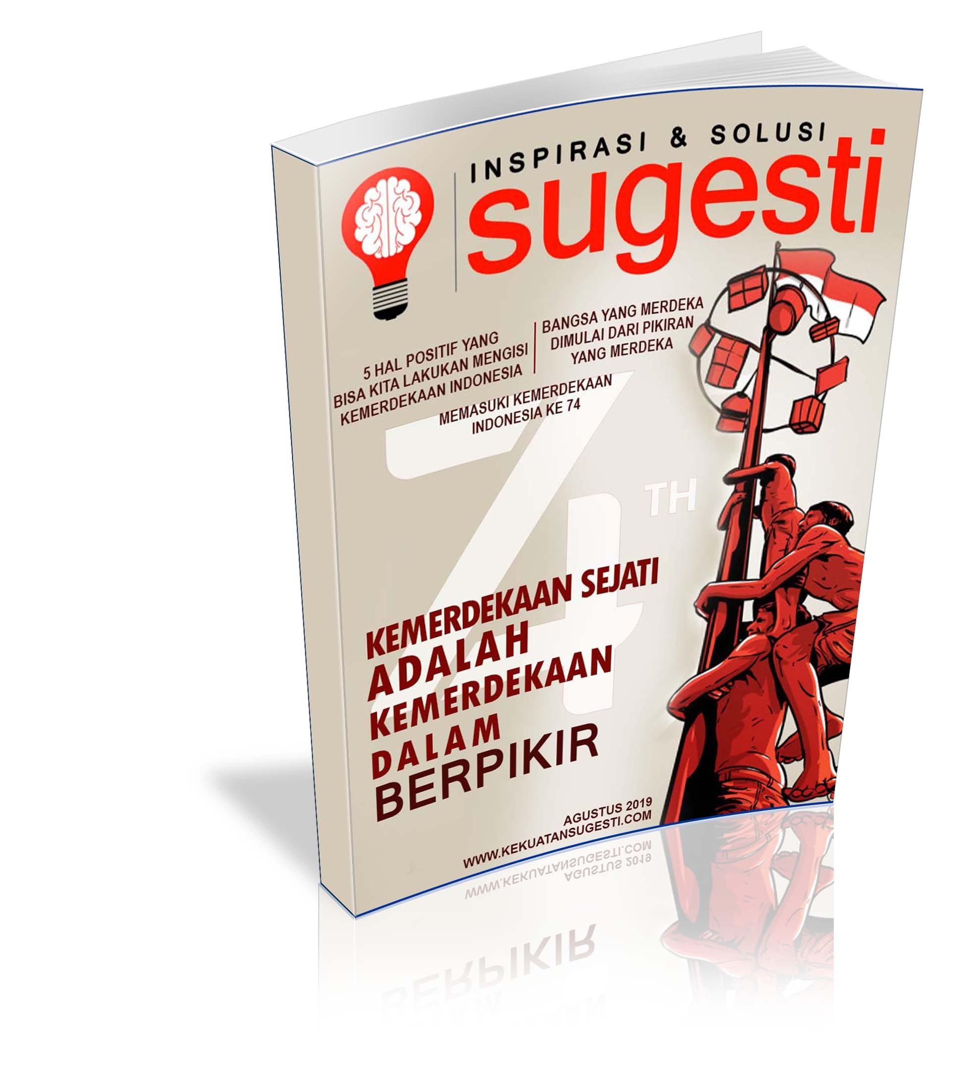 Majalah Sugesti Edisi Keenampuluh Dua bulan Agustus 2019