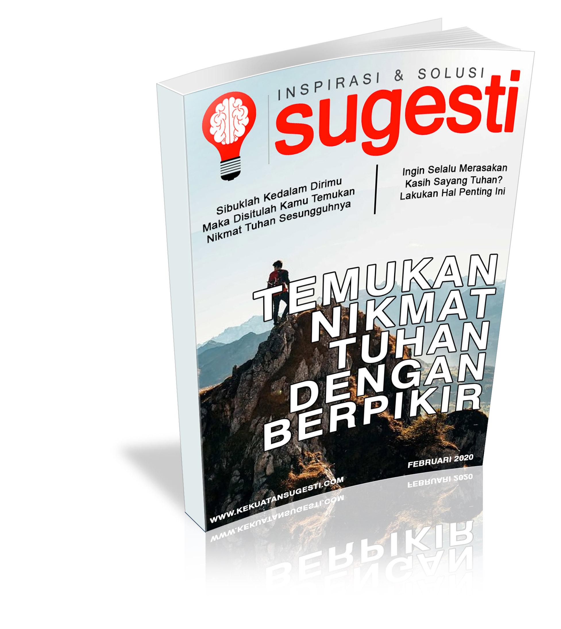 Majalah Sugesti Edisi Keenampuluh Delapan bulan Februari 2020